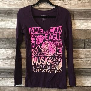 American Eagle Women's Festival Top Size M Purple